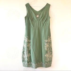 Whistles Silk Linen Spring Floral Dress Si…